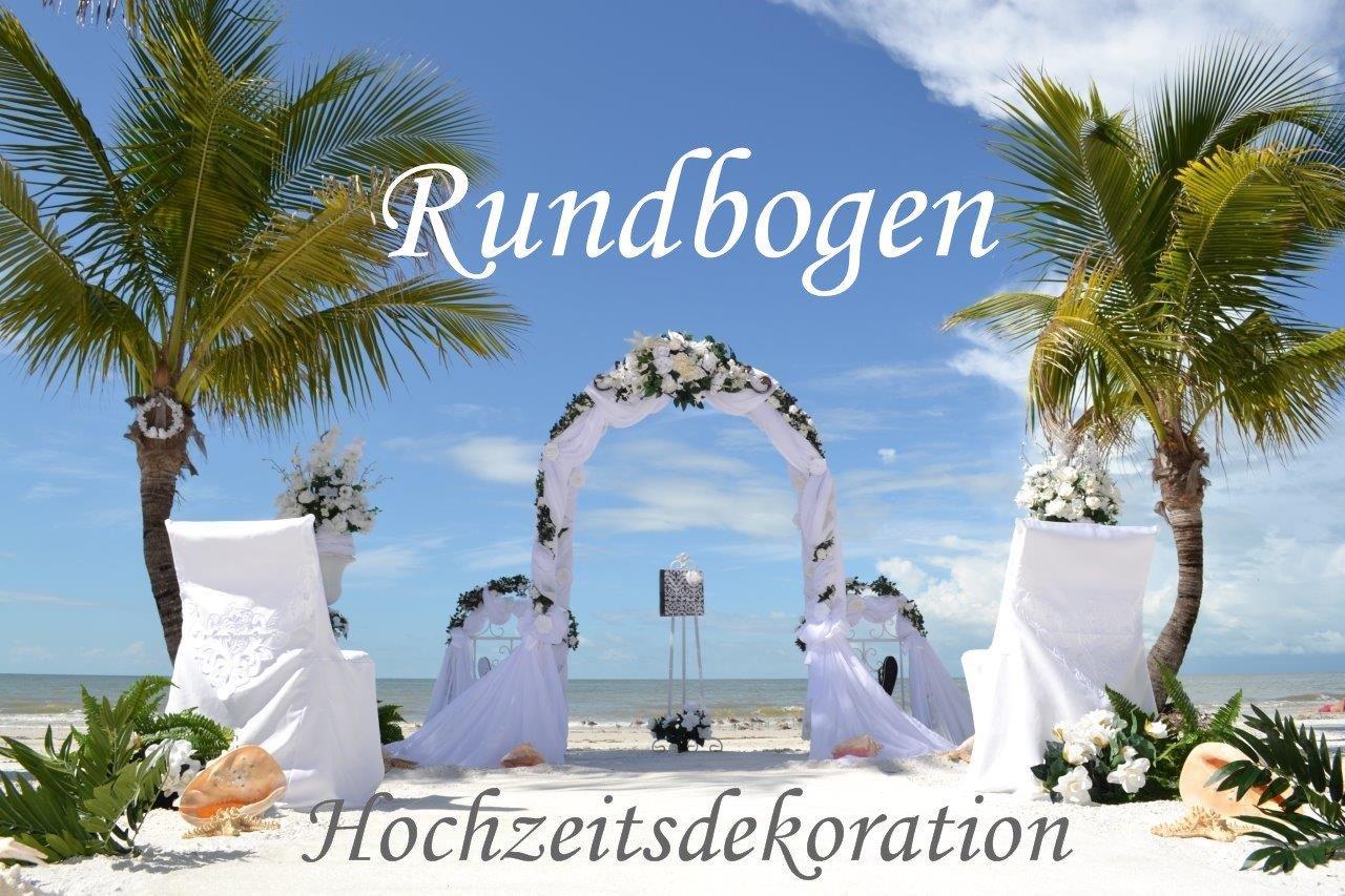 Hochzeitsdekoration – romantisch dekorierter Rundbogen.