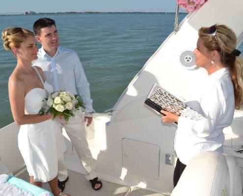 Hochzeit auf einer Yacht in Florida