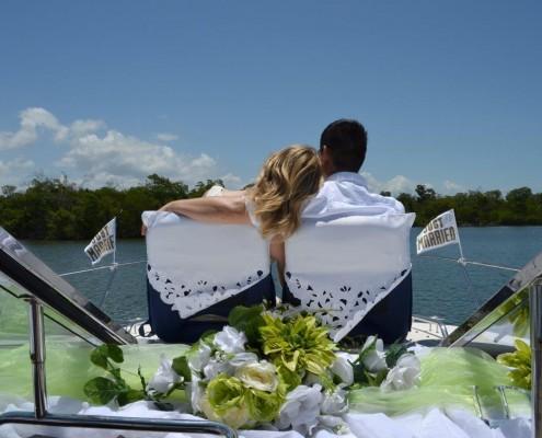 Paar auf Boot