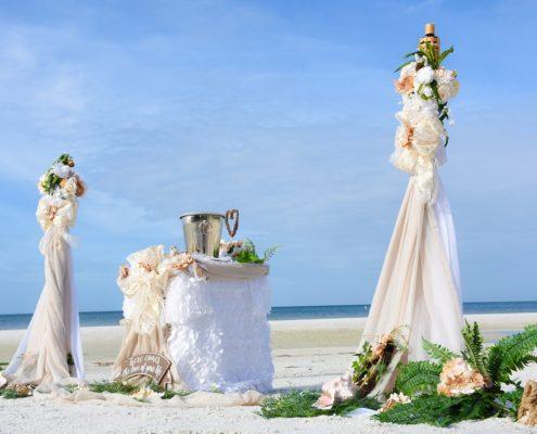 Florida Strand Hochzeit Dekoration
