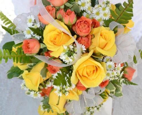 Brautstrauß gelb orange
