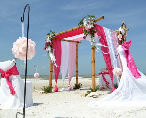 Deko Strand Florida zur Hochzeit