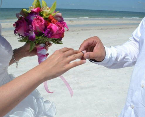Brautstrauß am Strand von Florida