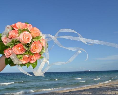 Brautstrauß Strandhochzeit Florida
