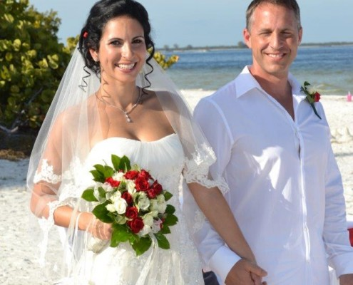 Brautpaar mit Brautstrauß Florida