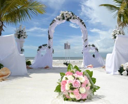 Brautstrauß einer Strandhochzeit in Florida