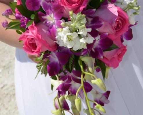 Brautstrauß bei Hochzeit am Strand