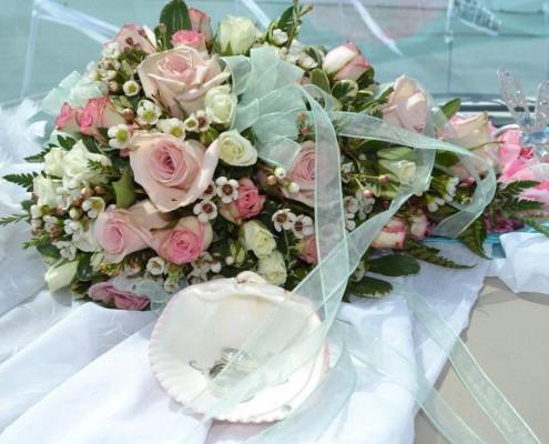 Brautstrauß in Pastelltönen