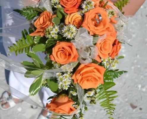 oranger Brautstrauß