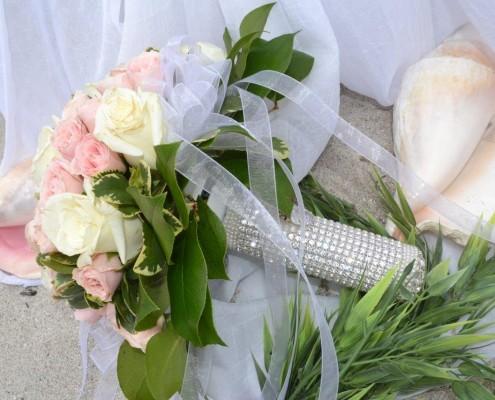 Brautstrauß aus Rosen pastell