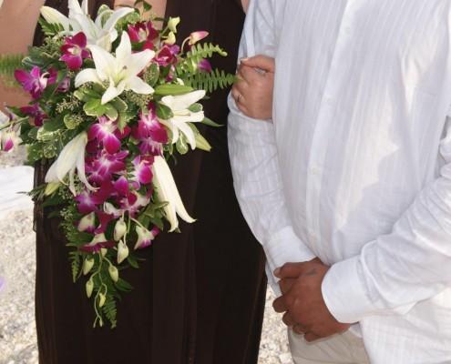 Brautstrauß weiß fuchsia