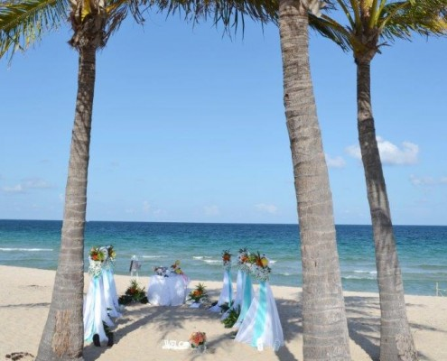 Heiraten Palmen Strand