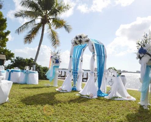 Hochzeit auf einer Wiese
