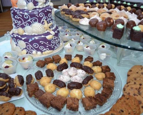 Kuchenstücke Hochzeit