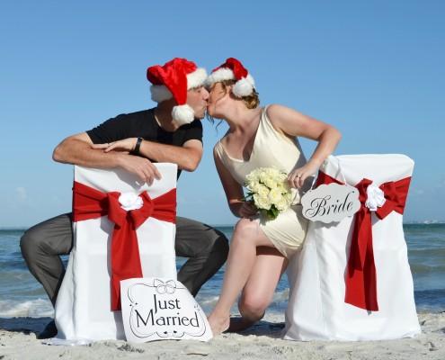 Brautpaar Florida Weihnachten