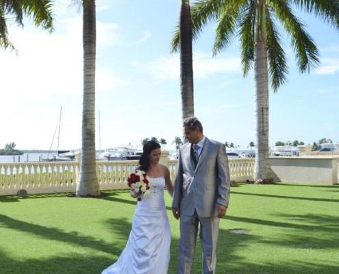 Hochzeit Florida Palmen