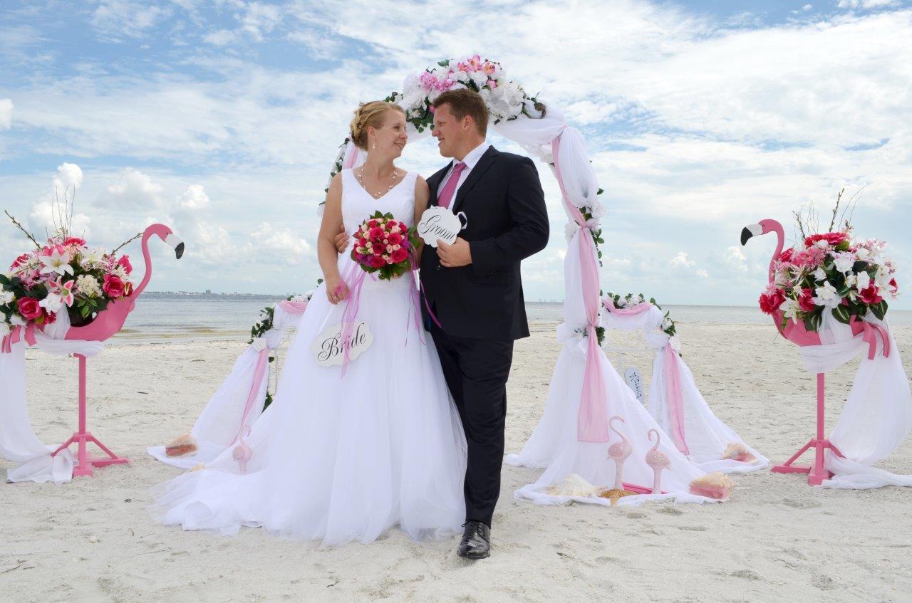 Brautpaar Florida Strand