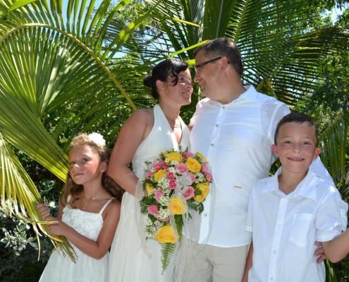 Hochzeitspaar Familie