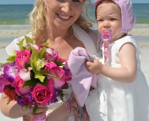 Braut und Kind