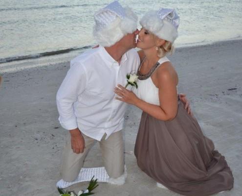 Weihnachten Strand Florida heiraten