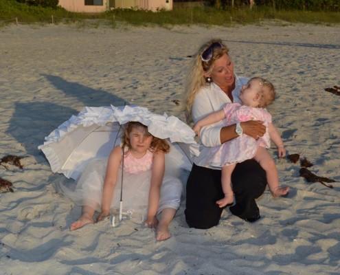 Chrissy mit Kinder