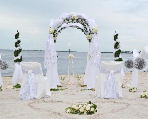 Florida Strand Hochzeitsdeko