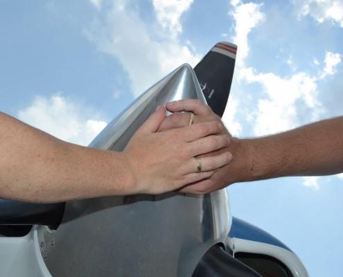 Flugzeug Hochzeit Florida