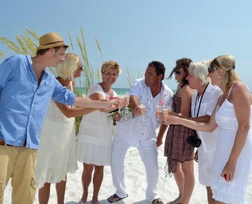 Hochzeitsgäste Strand