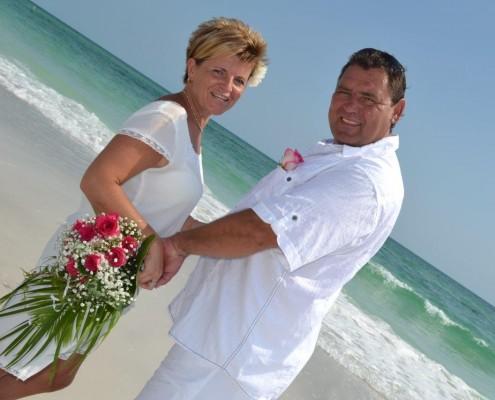 Brautpaar Strandhochzeit Florida