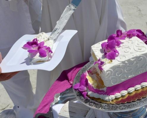 Serving Wedding Cake