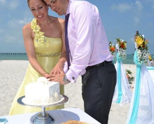 Wedding Cake Anschnitt Cake