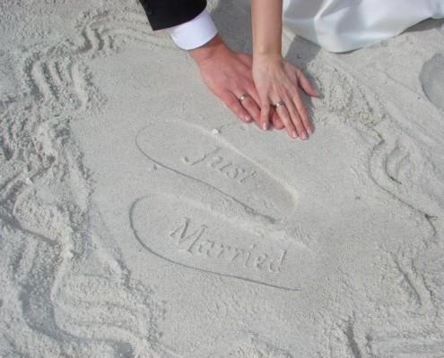 Fußabdrücke Strand