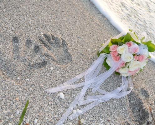 Brautstrauß Strand