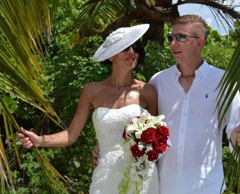 Brautpaar Palmen