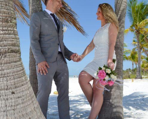 Florida Palmen Hochzeit Strand