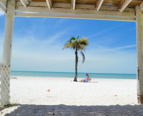Heiraten Florida Palmen Strand Meer