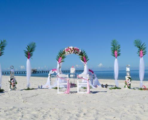 Heiraten unter Palmenwedel
