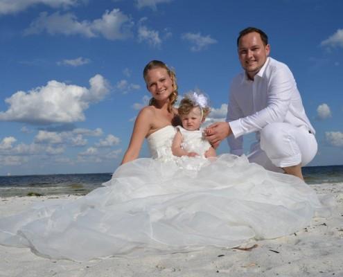 Hochzeit mit Kindern in Florida