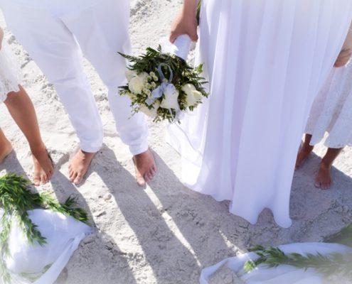 Barfuss heiraten am Strand