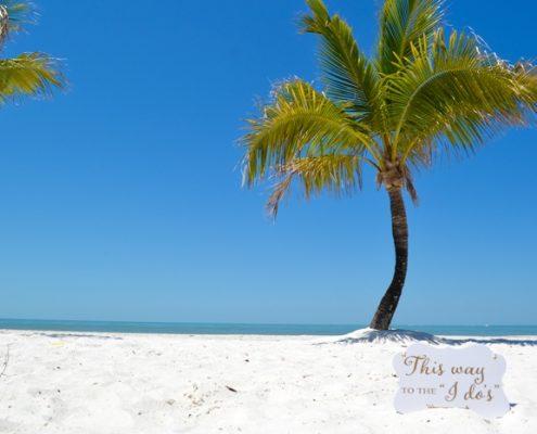 der Weg zur Strandhochzeit