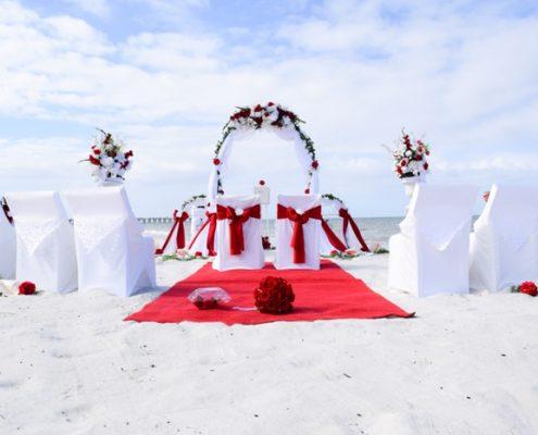 Rot Weiss Hochzeit