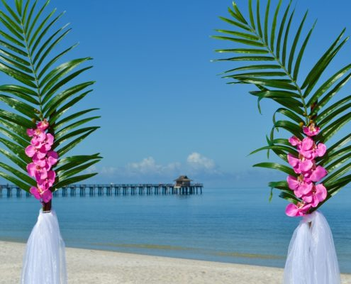 am Naples Pier Florida heiraten