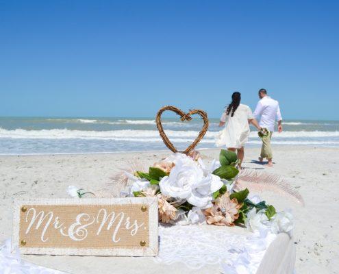 einfache Hochzeit Florida - kleine Deko