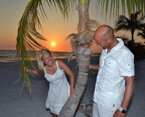 heiraten bei Sonnenuntergang
