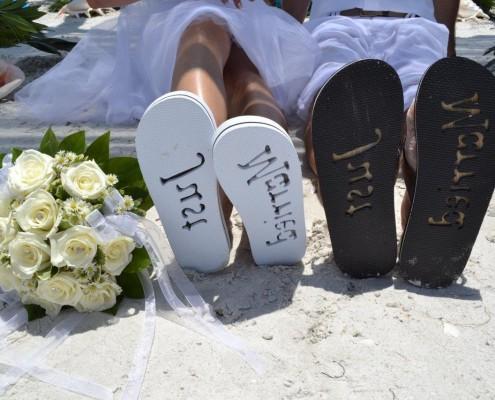heiraten in Flip Flops