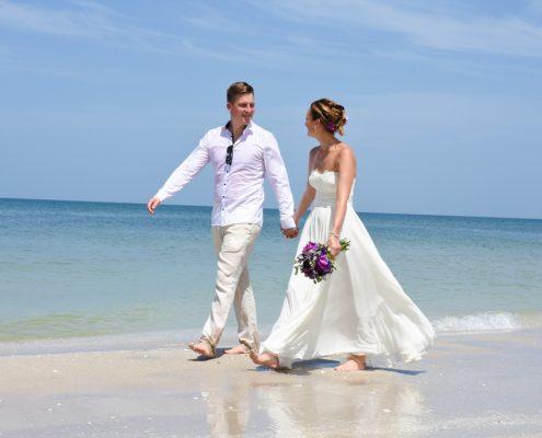 in Florida Barfuss heiraten