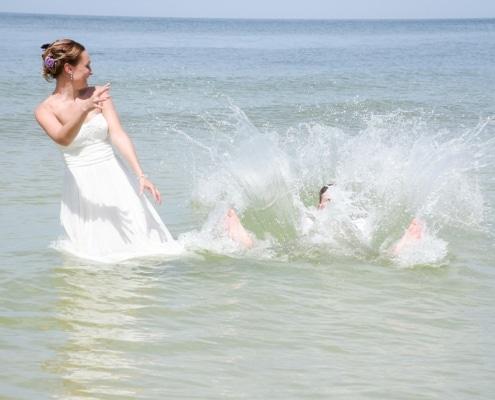 Im Wasser heiraten