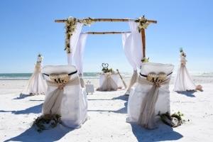 Bambus-Dekoration-Hochzeit