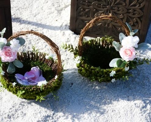 Boho-Wedding-Blumenkoerbchen