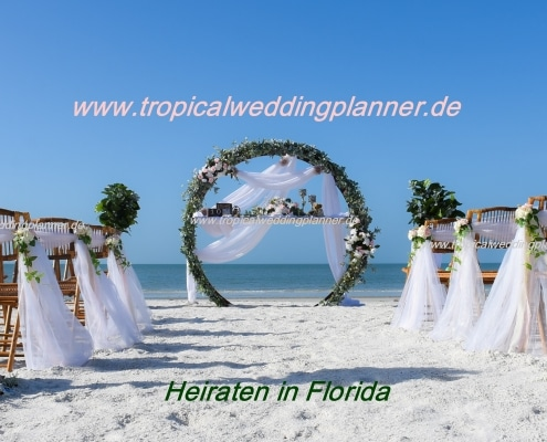 Tropical Wedding Planner Rundbogen Dekoration
